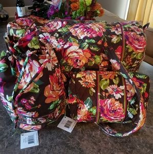 Very Bradley Travel Bags in English Rose print.